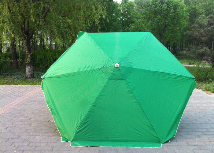 Waterproof Green Round Beach Umbrella Uv Protection For Various Occasions