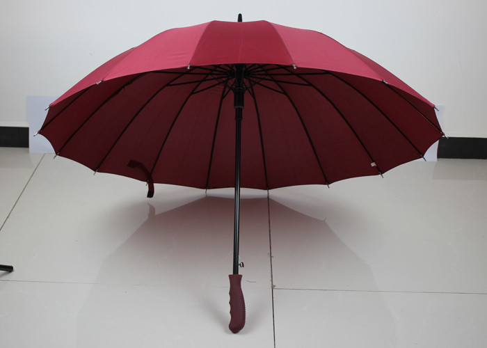 Dark Red Promo Golf Umbrellas , Strong Compact Umbrella Auto Open Close