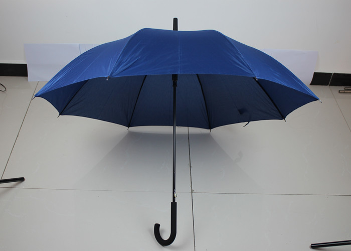 30 Inch Blue Auto Open Golf Umbrella Double Ribs With Heat Transfer Print